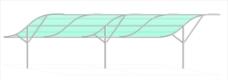 车棚 车棚设计 弧线图片
