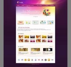 画廊网页模板无代码图片