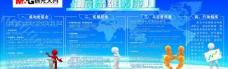蓝色 企业展板图片