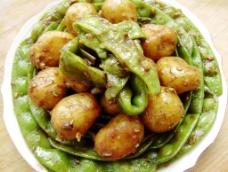 豆角焖土豆图片