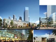 建筑3d模型效果图图片