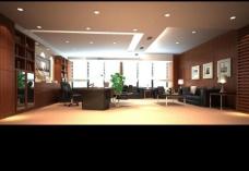 老总办公室3d模型图片