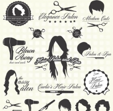 理发店logo矢量图片
