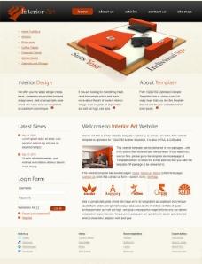 室内艺术网页模板图片
