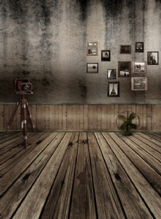 木板背景墙图片