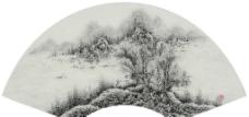 中国画扇面图片
