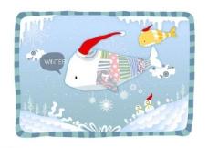 冬季雪人卡通背景图片