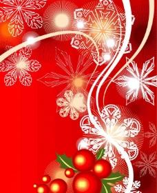 美丽的冬季花纹图片