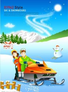 冬季滑雪人物图片