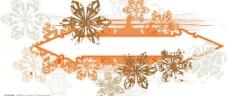 冬季花纹banner图片