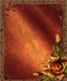 花卉框架模板图片