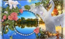 浪漫背景模板图片