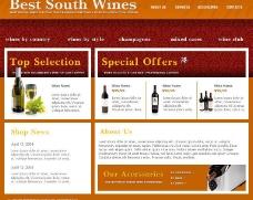 红酒网站模板图片