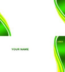 绿黄色名片