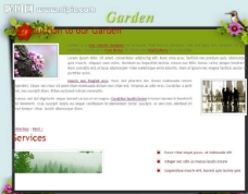 我们的花园网页模板图片