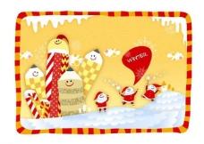 圣诞老公公背景图片