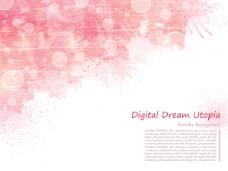 粉红色泼墨背景