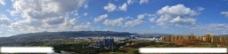 蓝天下的开远城图片