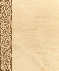 雕花木纹背景高清图