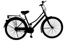 自行车 自行车剪影图片