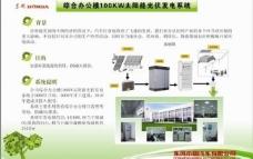 太阳能光伏发电系统展板图片