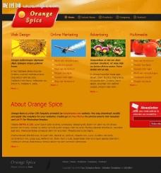农业公司网页模板图片