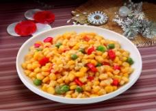 松仁炒玉米图片