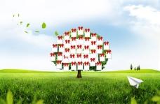 韩国创意许愿树PSD分层模板