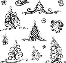 手绘圣诞树图片