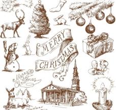 手绘圣诞节背景图片