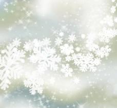 雪花矢量背景图片