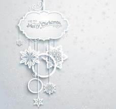 剪纸雪花背景图片