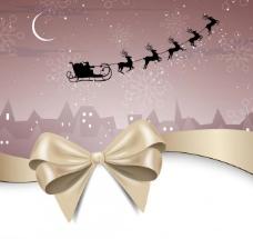 蝴蝶结 丝带圣诞背景图片