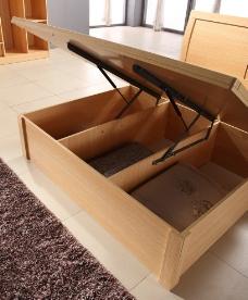 板式双人床图片