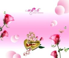 玫瑰移门图片
