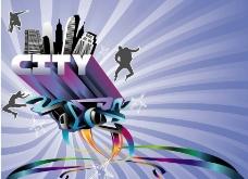 城市音乐背景图片