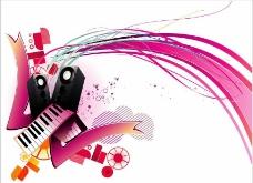动感线条 音乐背景图片