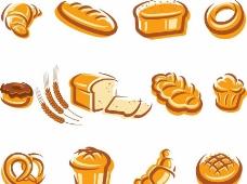 麦穗面包图标图片