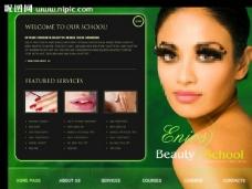 美女美容网站模板图片