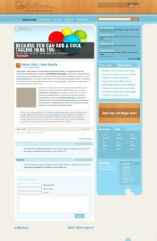 淡蓝WP博客模板图片