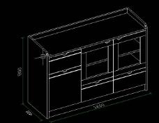 12米茶水柜DWG图片