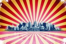 城市 剪影 背景图片