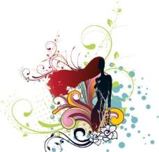 时尚花纹矢量素材图片