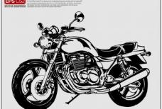 摩托车矢量剪影图片