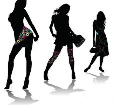 时尚女人各种身体造型图片