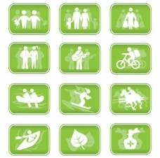 休闲人物剪影标志logo矢量图片