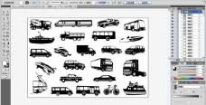 交通工具剪影图片