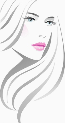 线条时尚美女头像图片