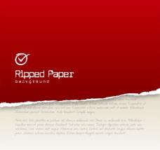 创意红色撕纸背景矢量素材