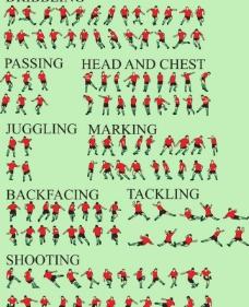 足球运动员全运动动作图片